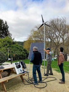 solar wind power outdoor setup